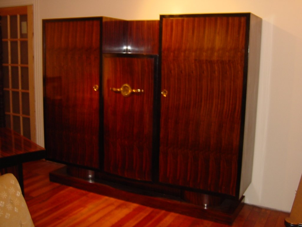 art deco french armoire cabinet. Black Bedroom Furniture Sets. Home Design Ideas