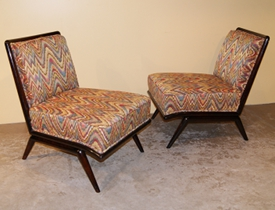 Robsjohn Gibbings Pair Lounge Chairs